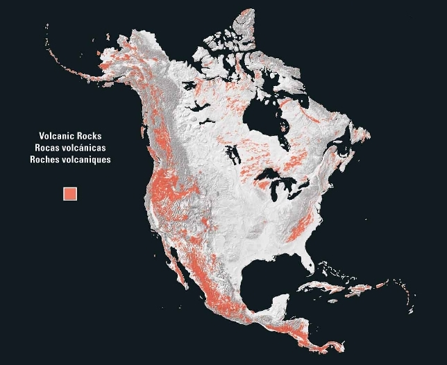 Volcanic rocks of North America 2003