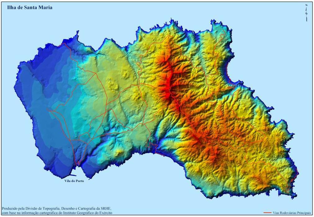 Santa Maria Island Map, Portugal