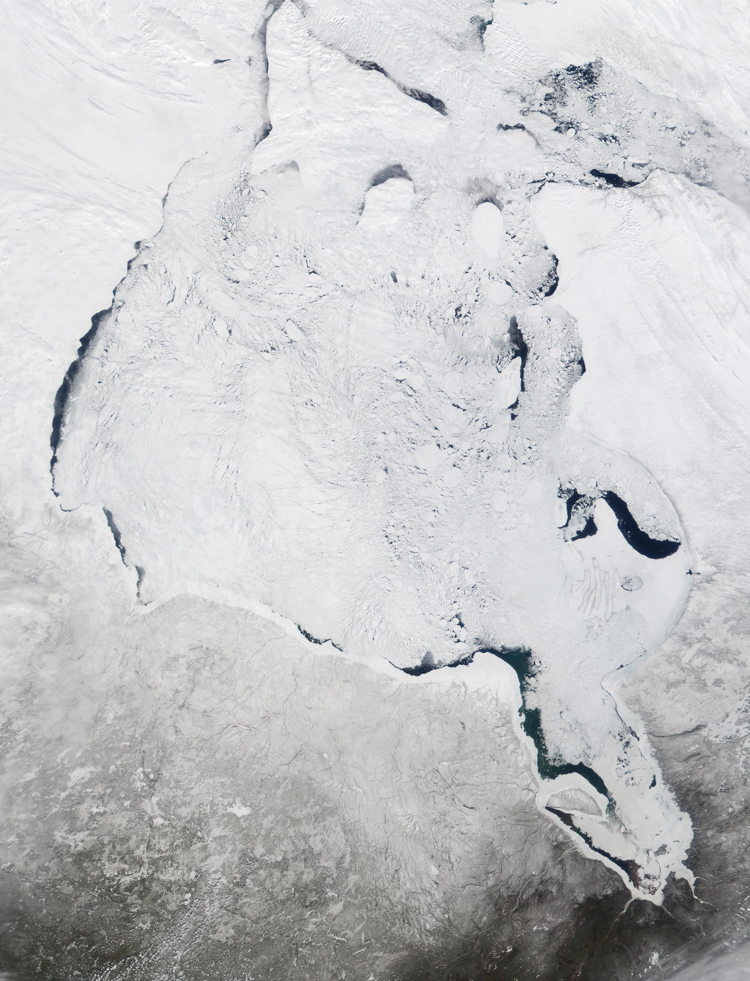 Satellite Image, Photo of Hudson Bay, Canada