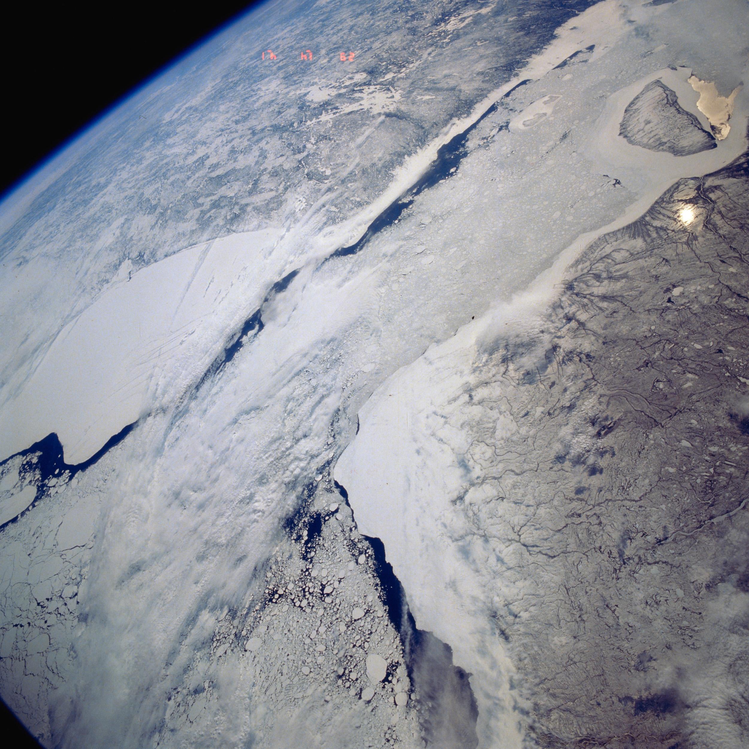 Satellite Image, Photo of Hudson, James Bays, Quebec