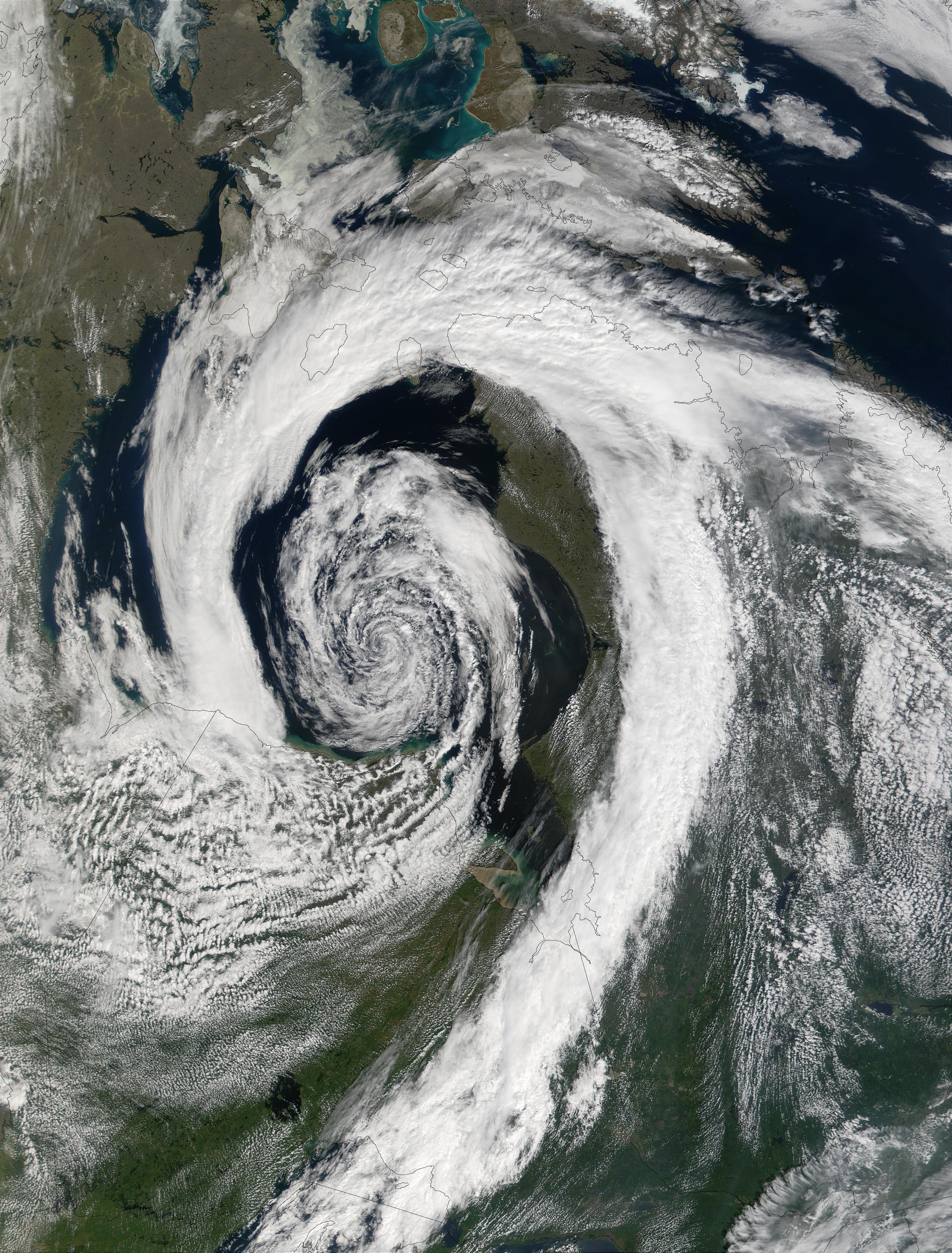 Satellite Image, Photo of Quebec, Canada