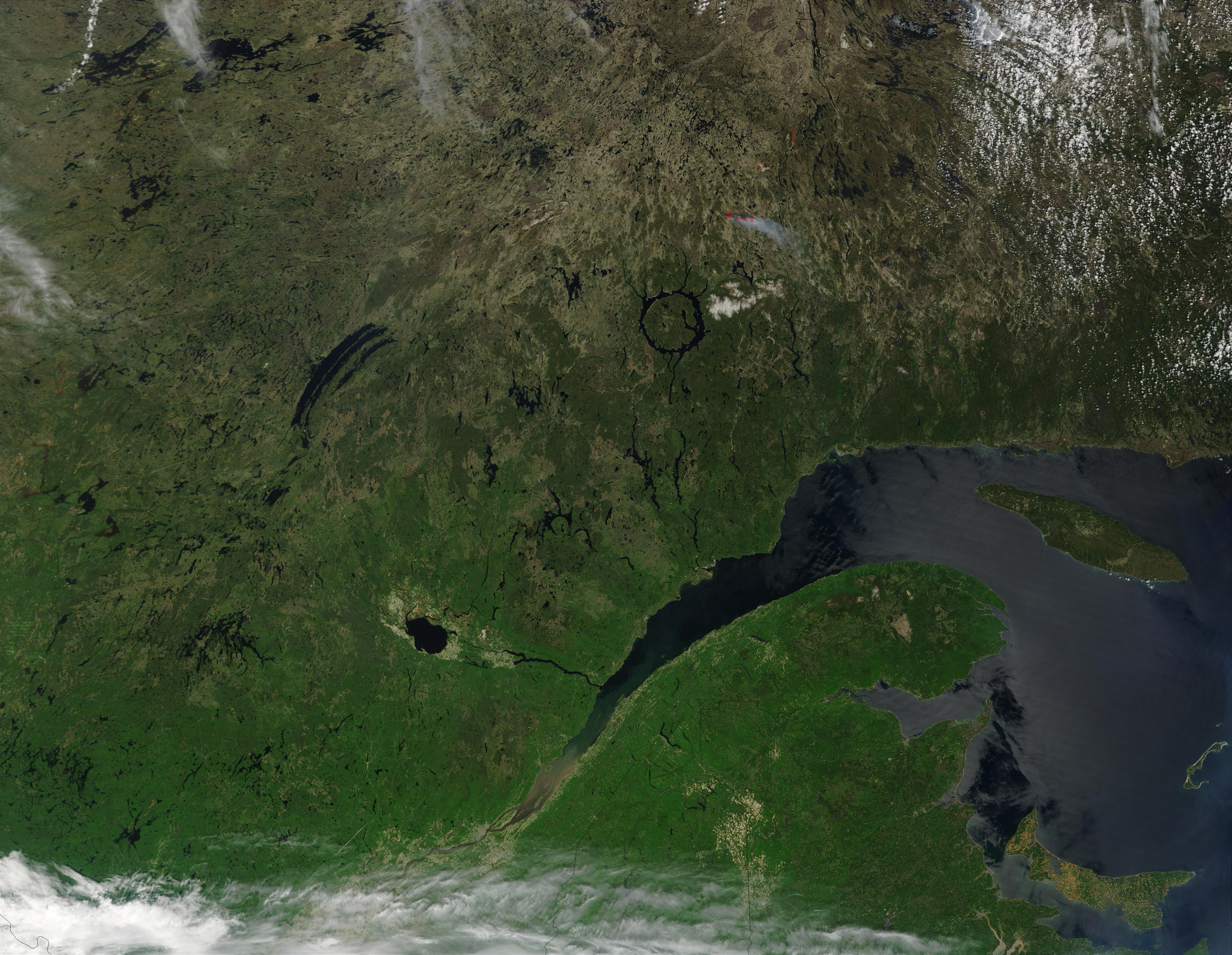 Satellite Image, Photo of Quebec Center