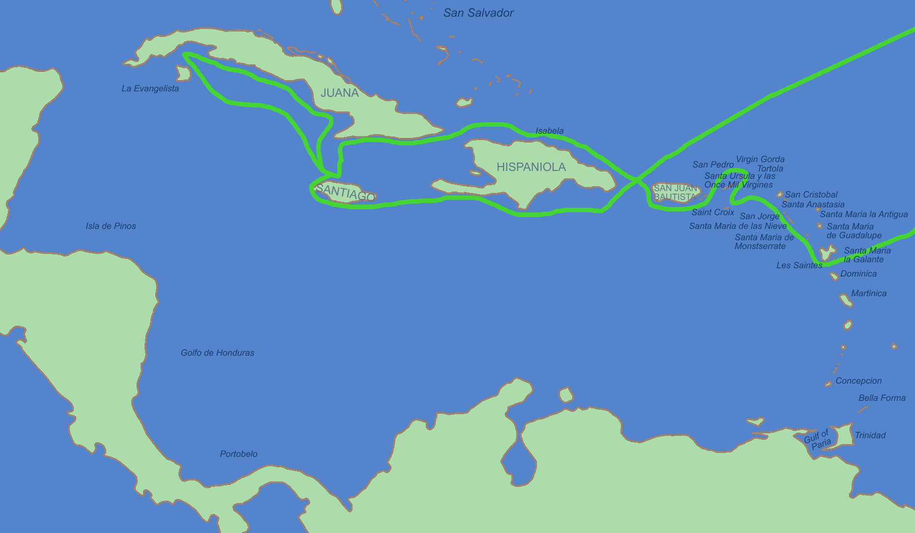 Second voyage of Christopher Columbus in 1493
