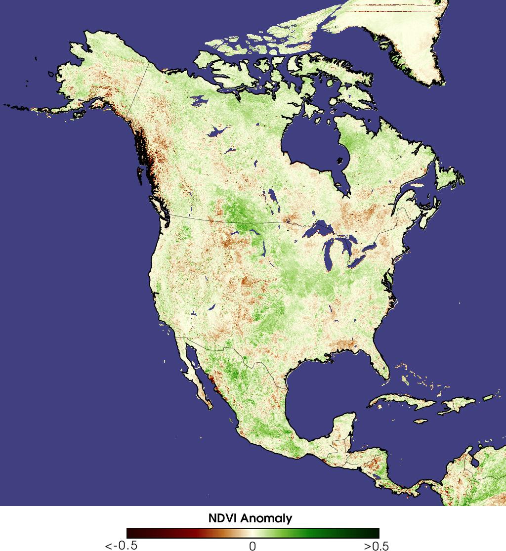 Sequía en América del Norte Julio 2000