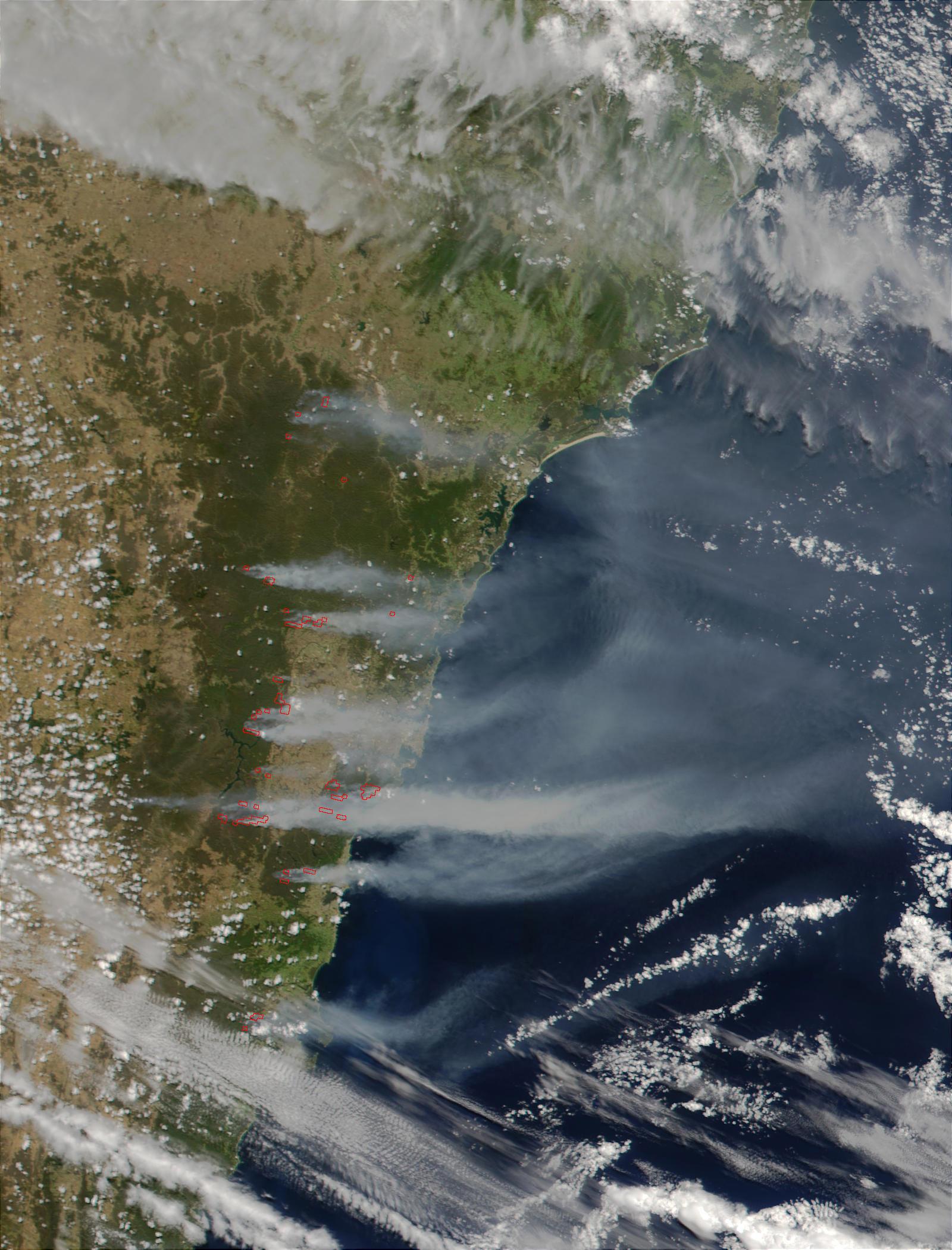 Severos incendios de monte cerca de Sydney, Australia