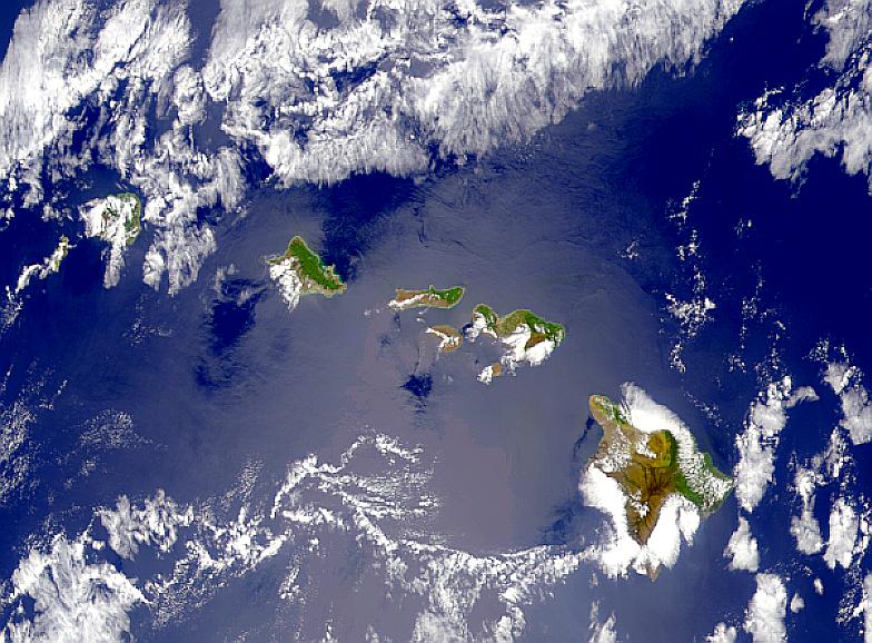 Soleada isla de Hawái