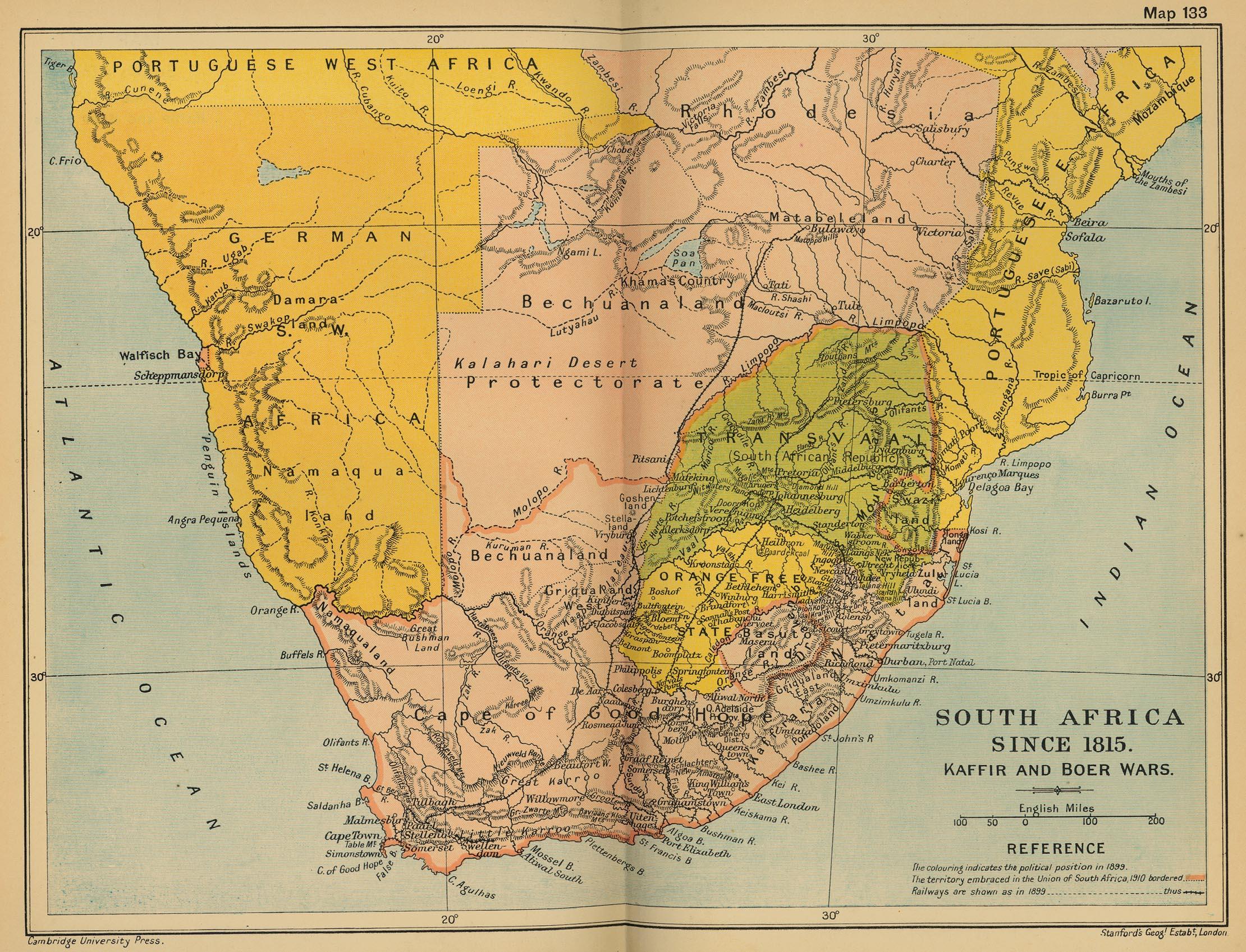 Sudáfrica en 1815