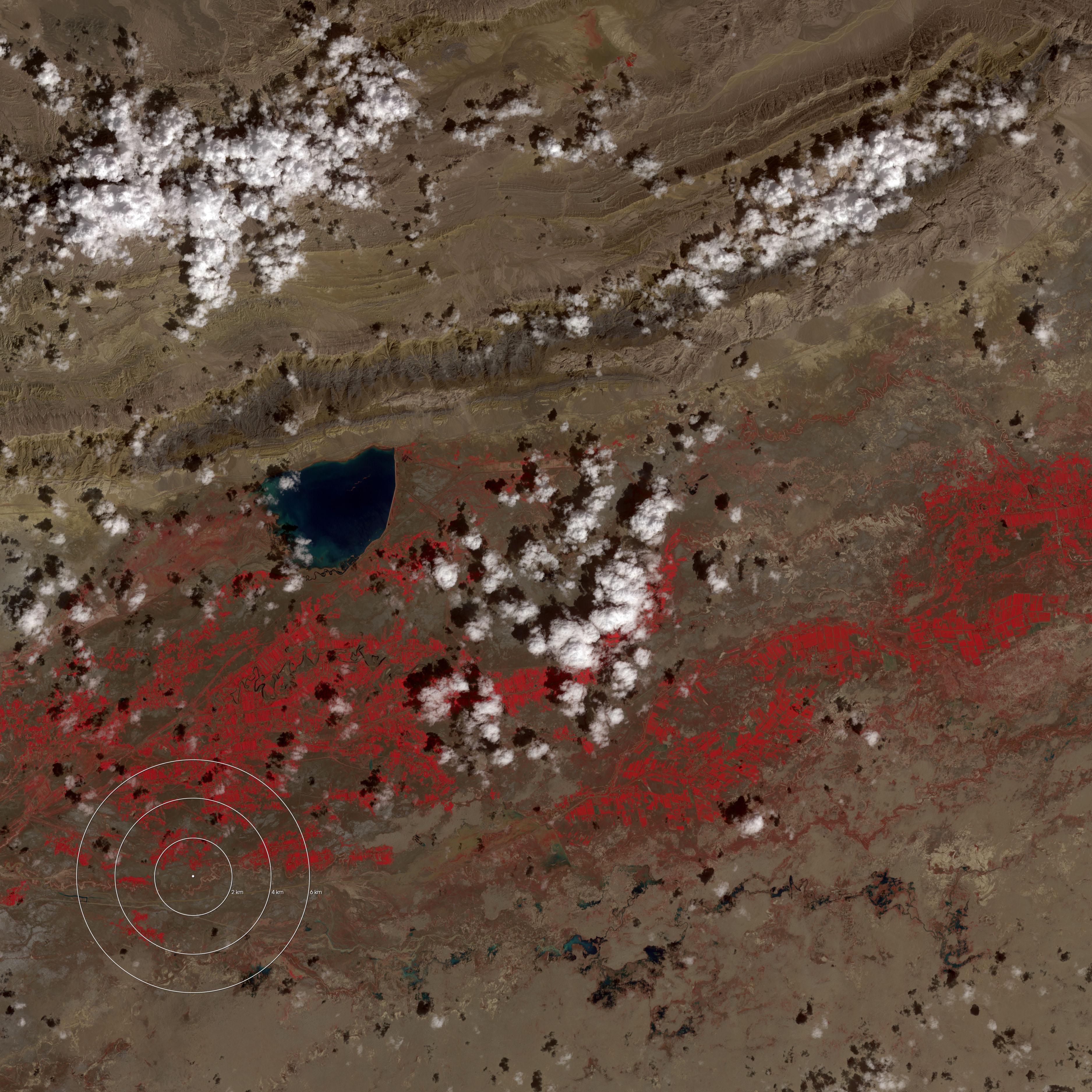 Earthquake in Xinjiang, China February 24, 2003