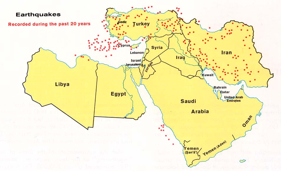 Middle East Earthquakes 1973