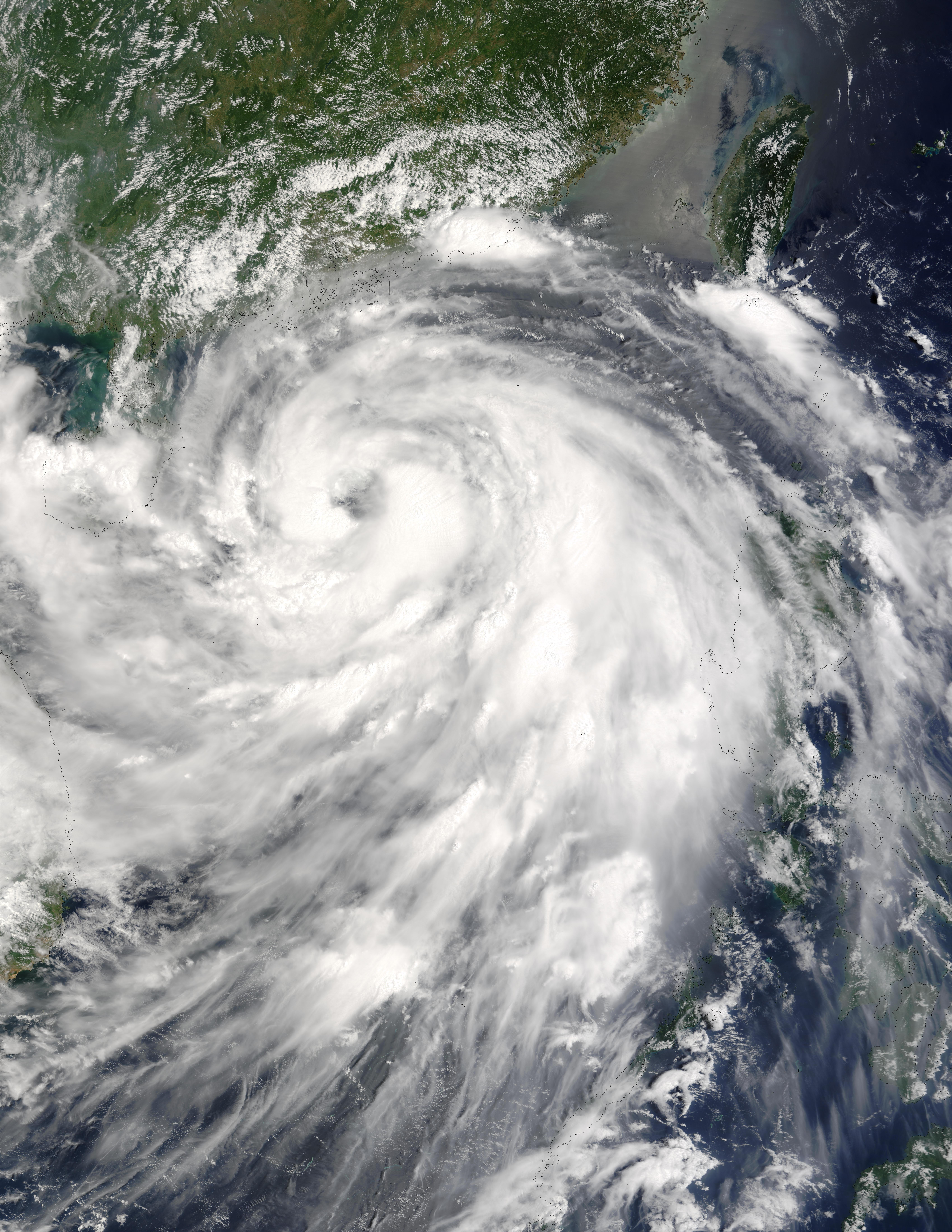 Typhoon Krovanh (12W) approaching China