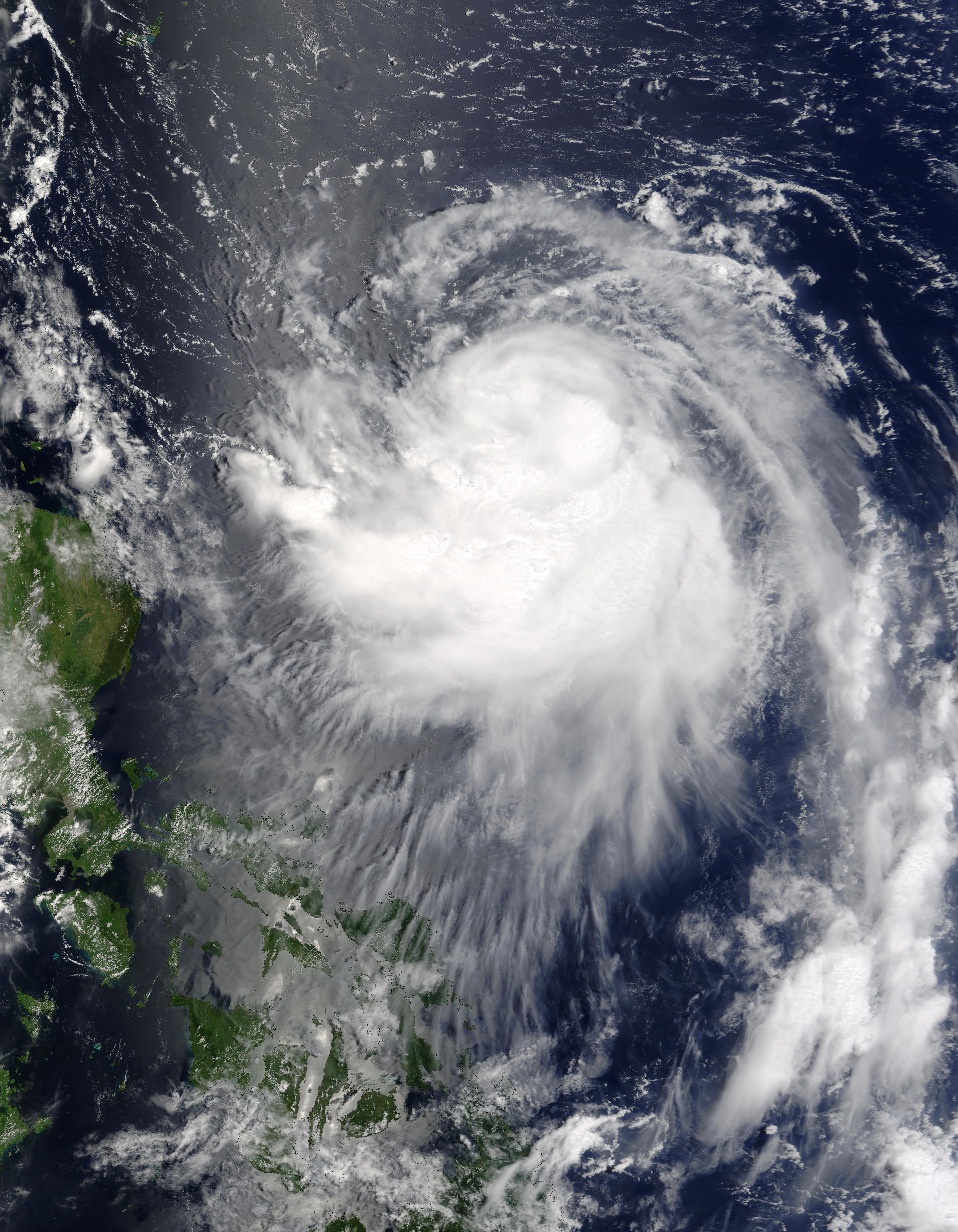 Typhoon Krovanh (12W) approaching the Philippines