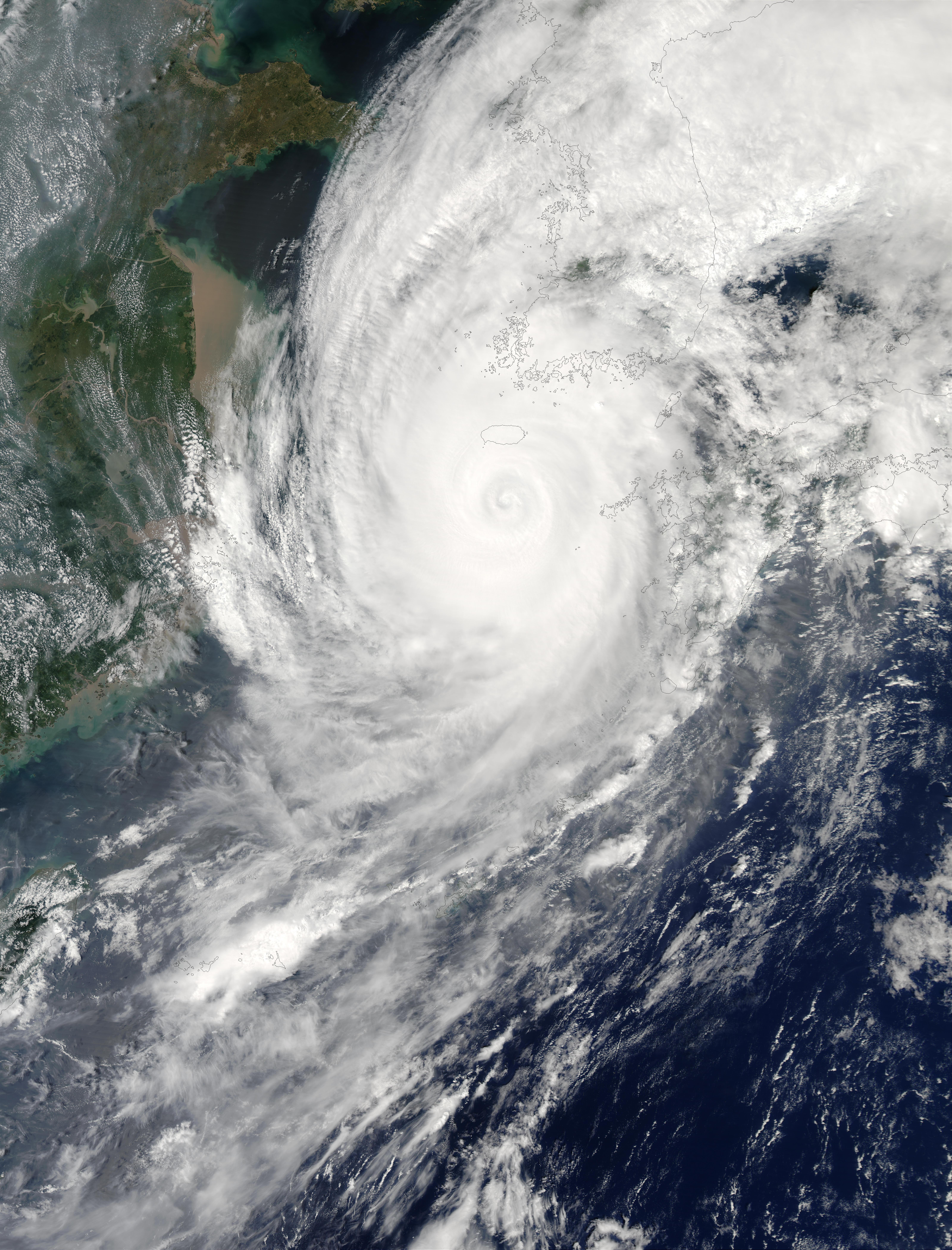 Tifón Maemi (15W) cerca de Corea
