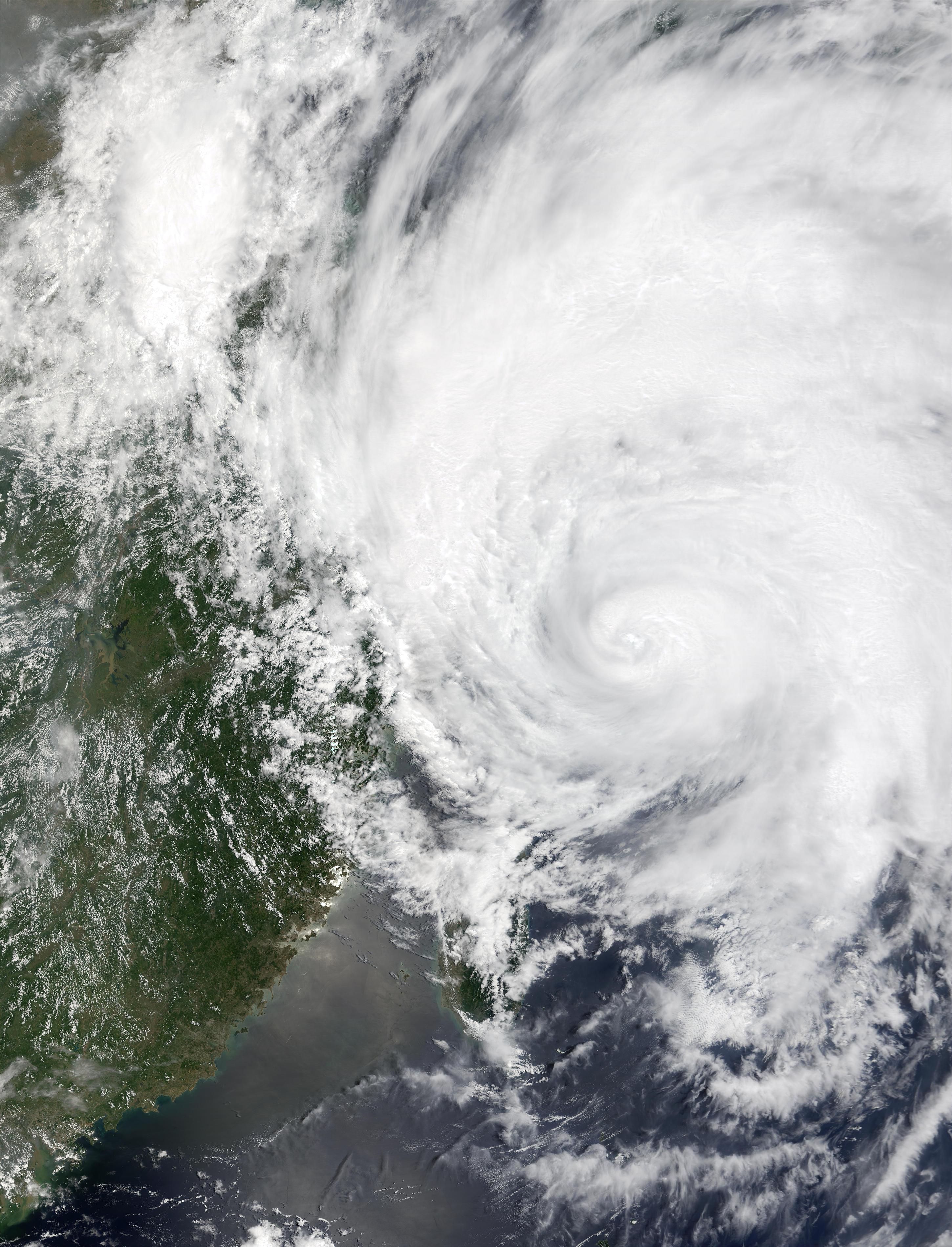 Typhoon Rammasun on China Coast