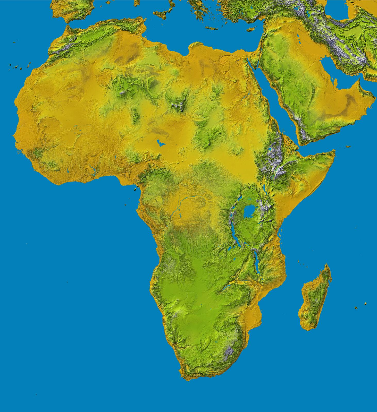 Topografía de África 2000