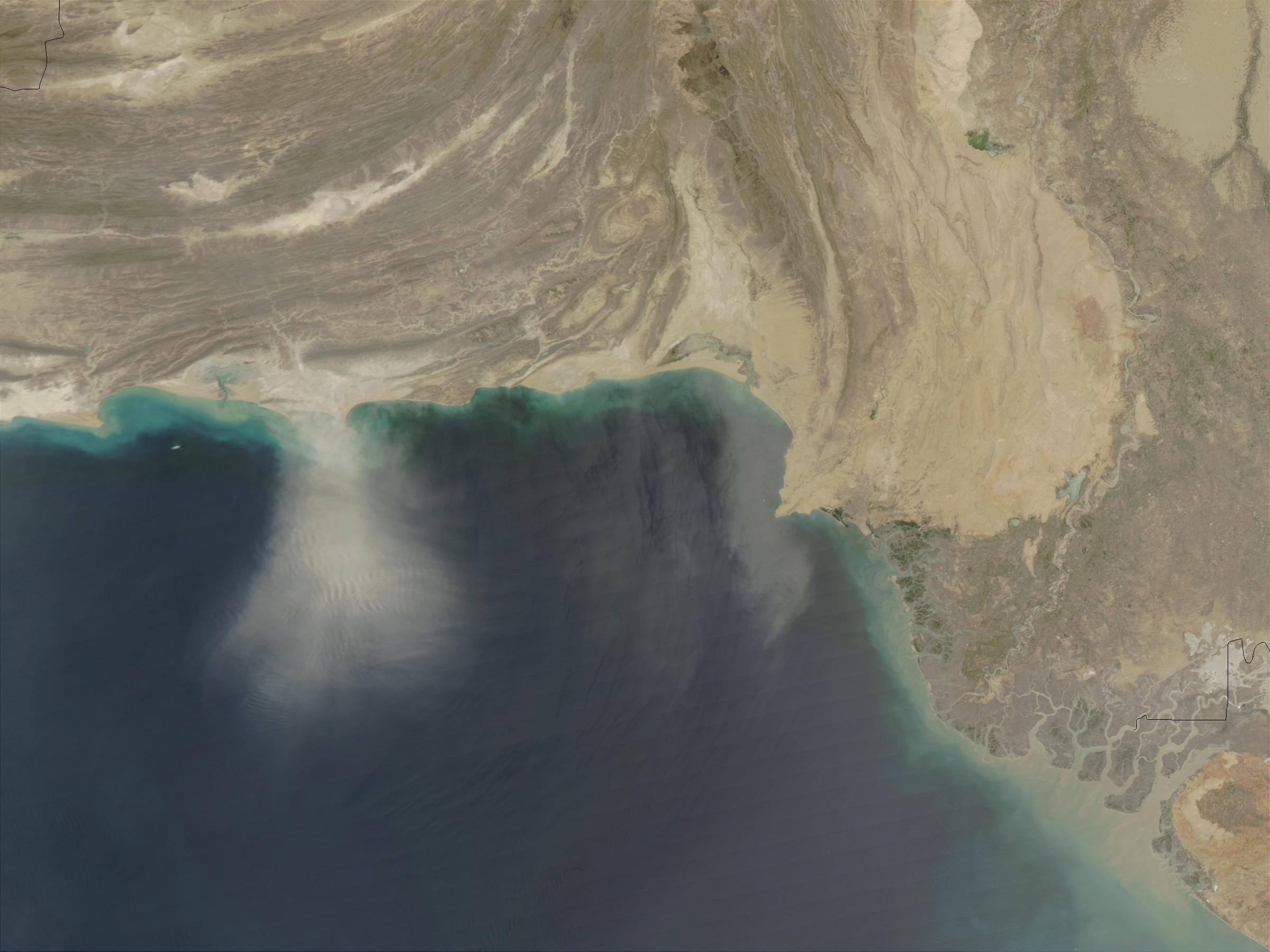 Tormenta de polvareda cerca de Pakistán