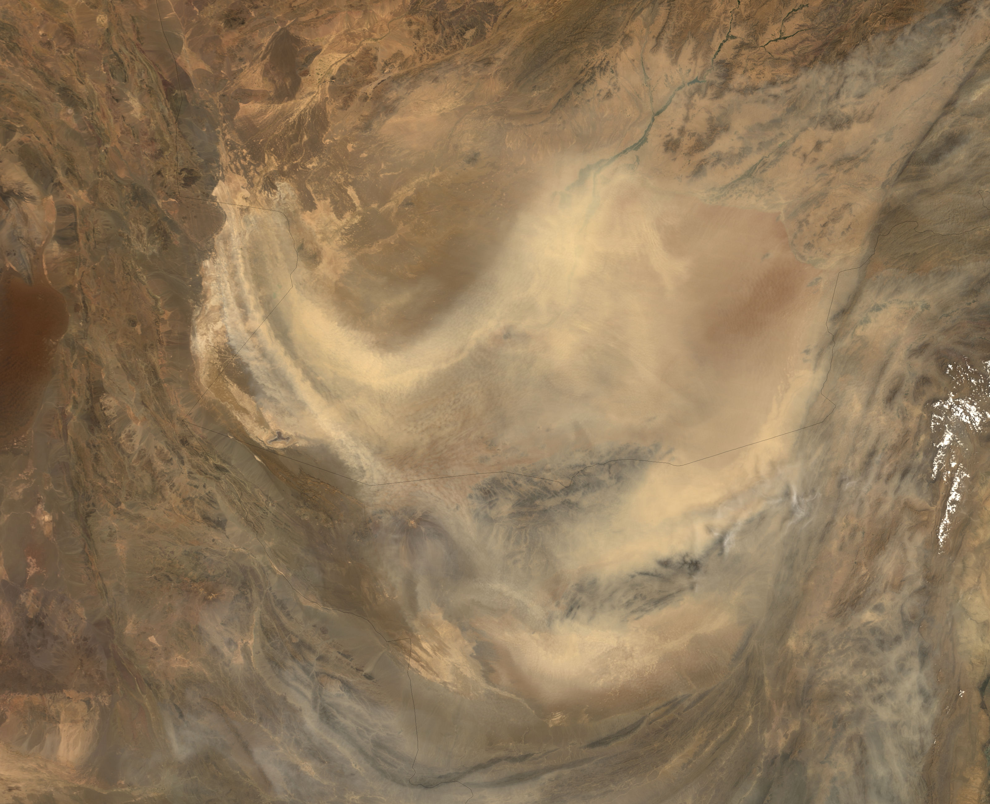 Dust storm in Afghanistan