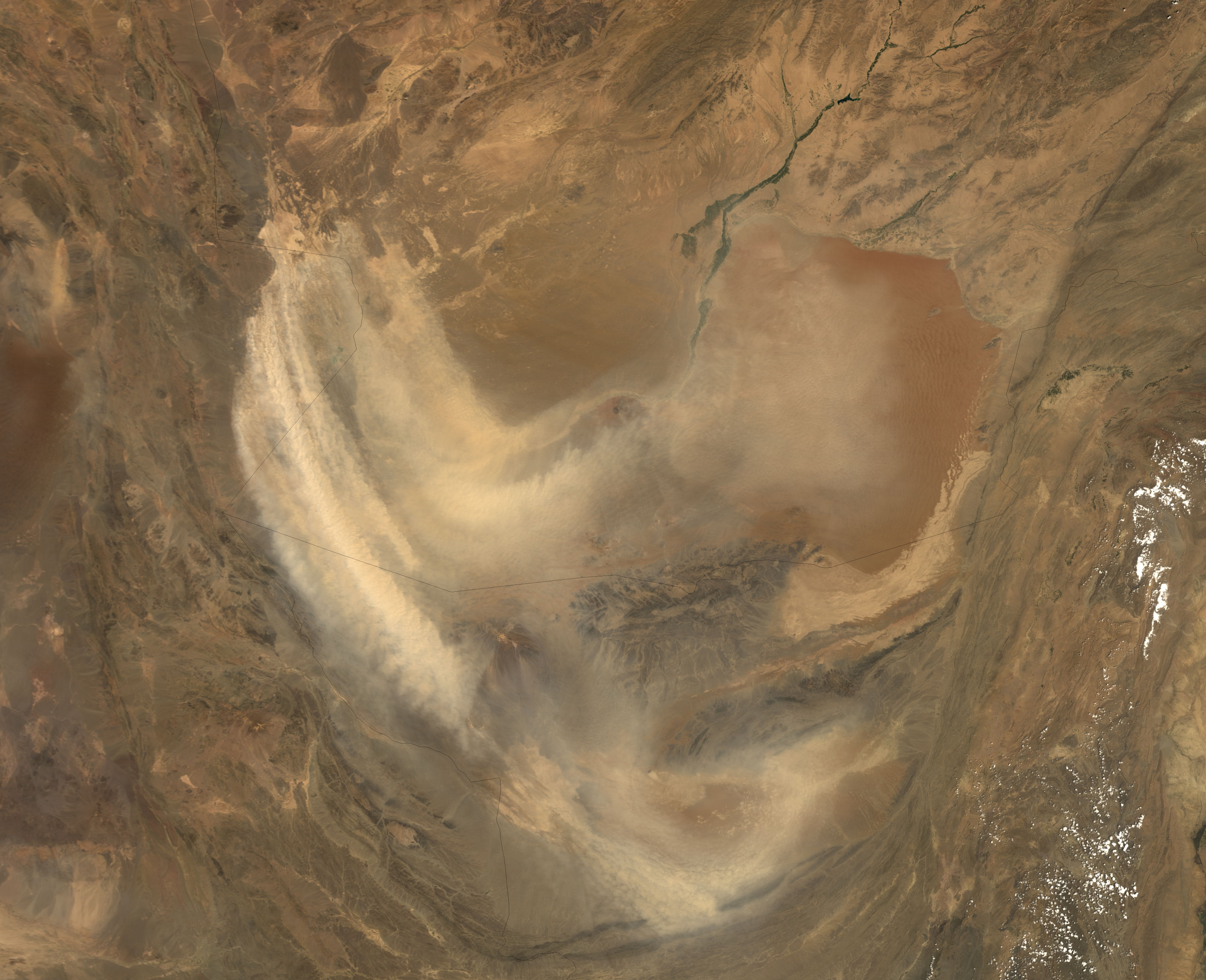 Tormenta de polvareda en Afganistán