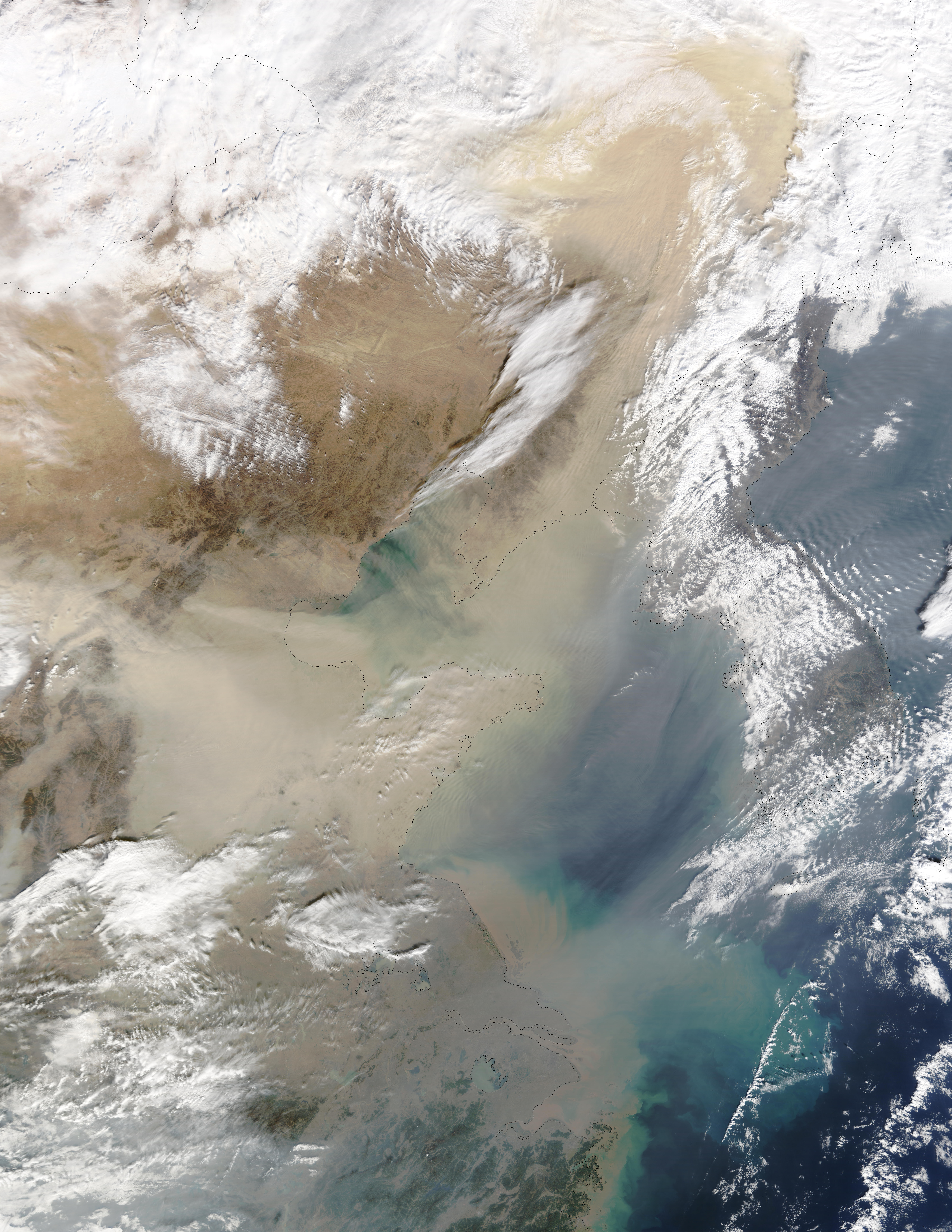 Dust storm in China