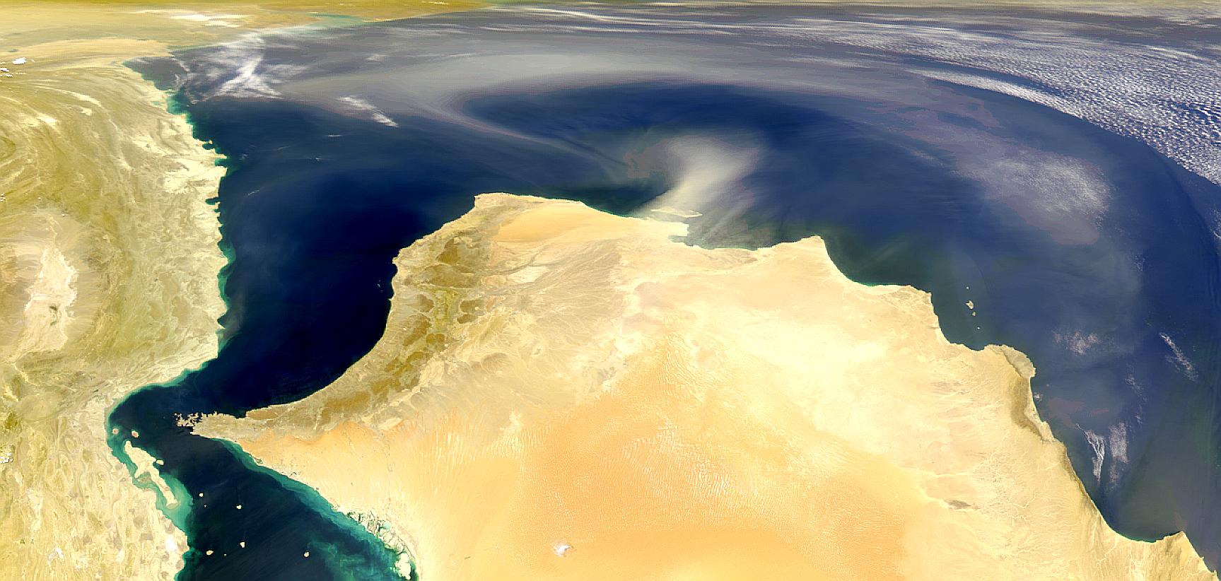 Tormenta de polvareda en Omán