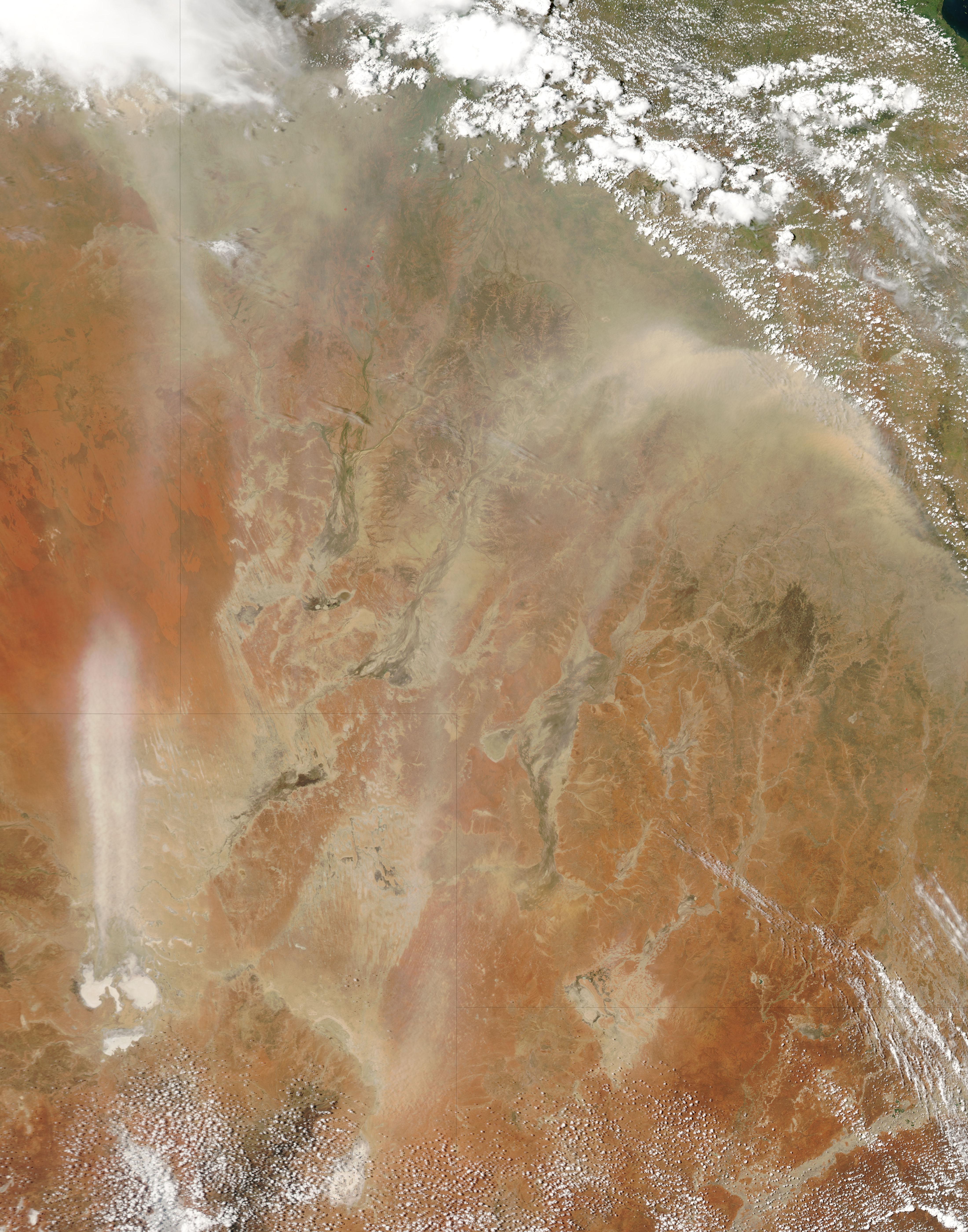 Tormentas de polvareda en Australia