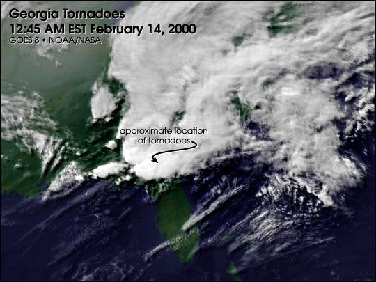 Tornados en Georgia, Febrero 14, 2000
