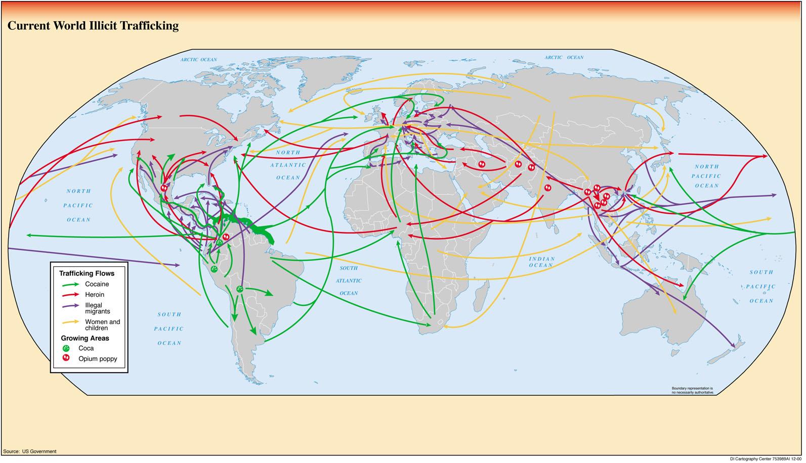 Tráficos ilícitos en el mundo 2000