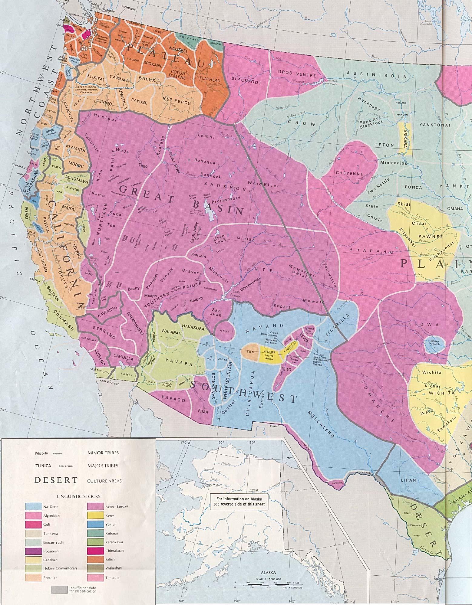 Tribus Indígenas Originales, Estados Unidos Occidental