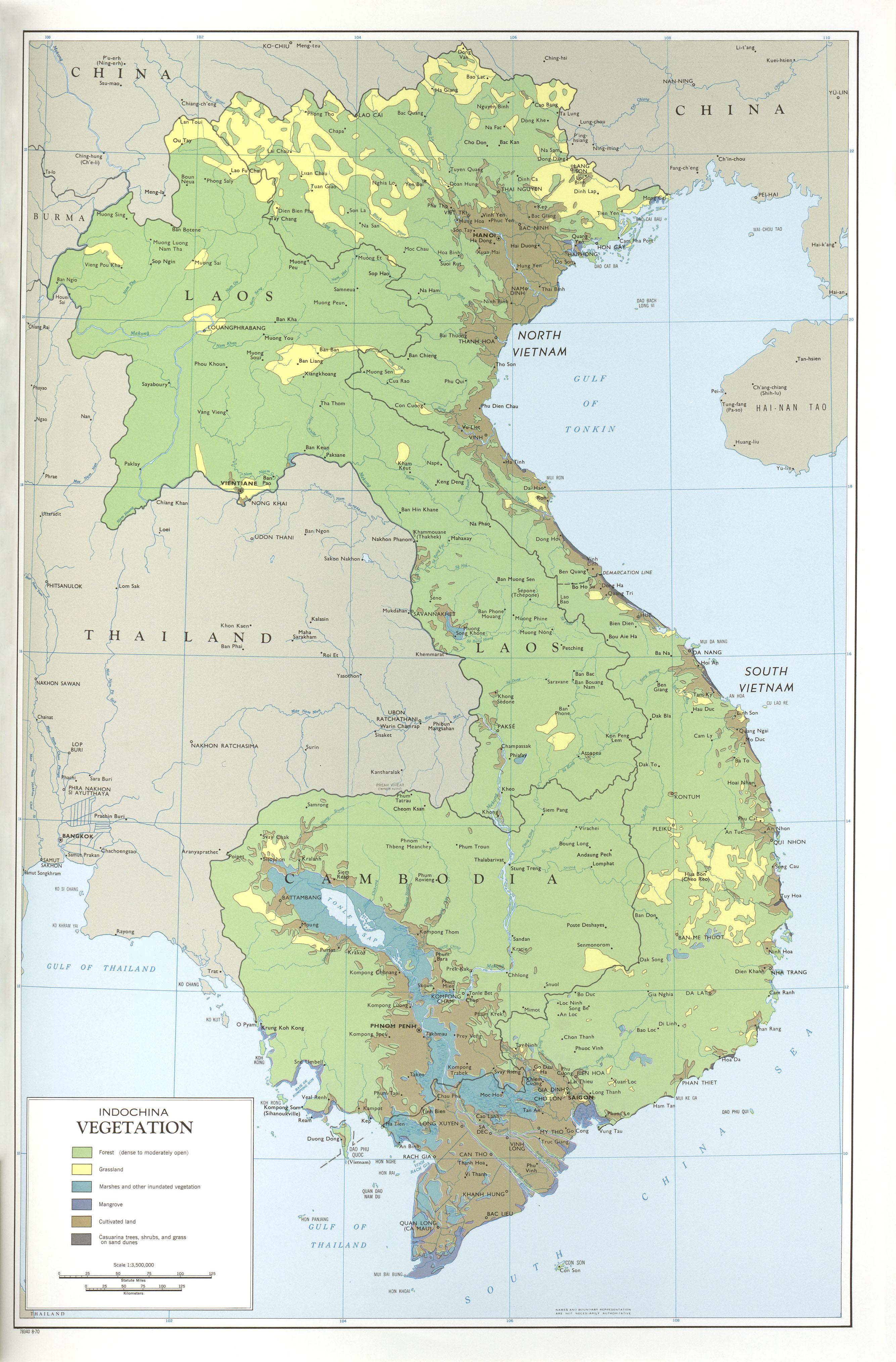 Vegetación de Indochina