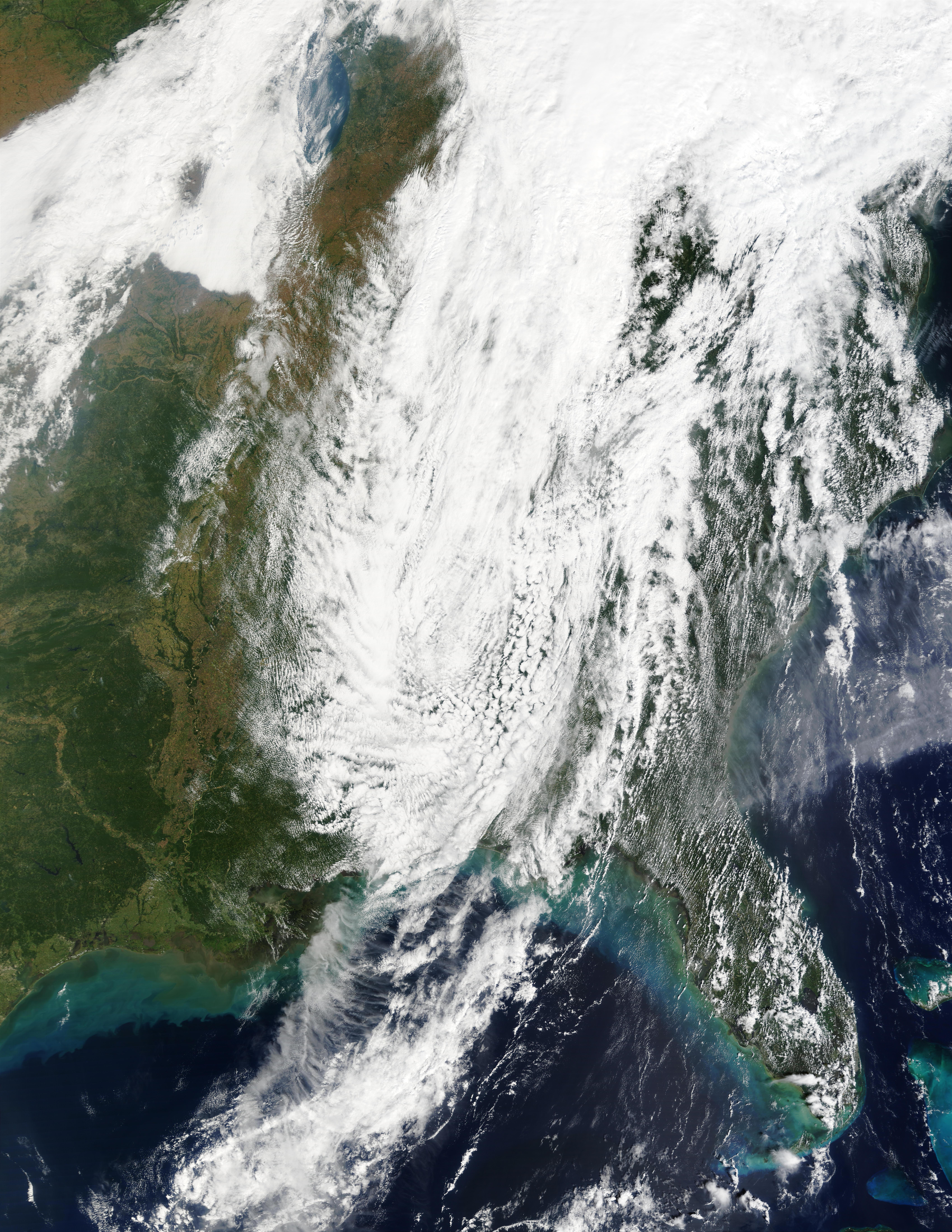 Vestigios del ciclón tropical Isidore encima de Estados Unidos oriental