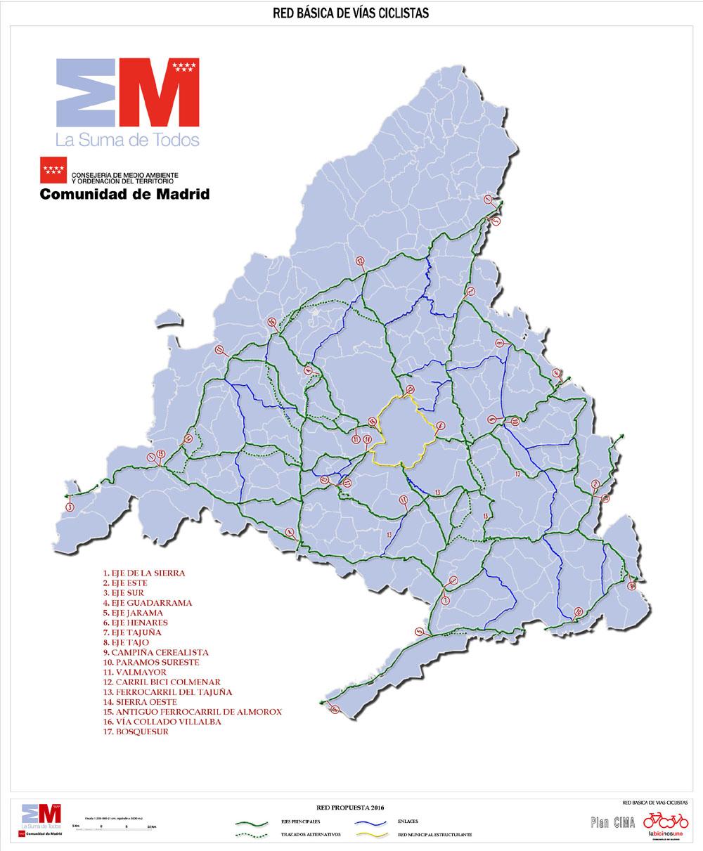 Vías Ciclistas de la Comunidad de Madrid