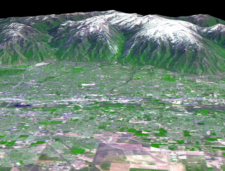 Salt Lake City, Utah, Perspective View