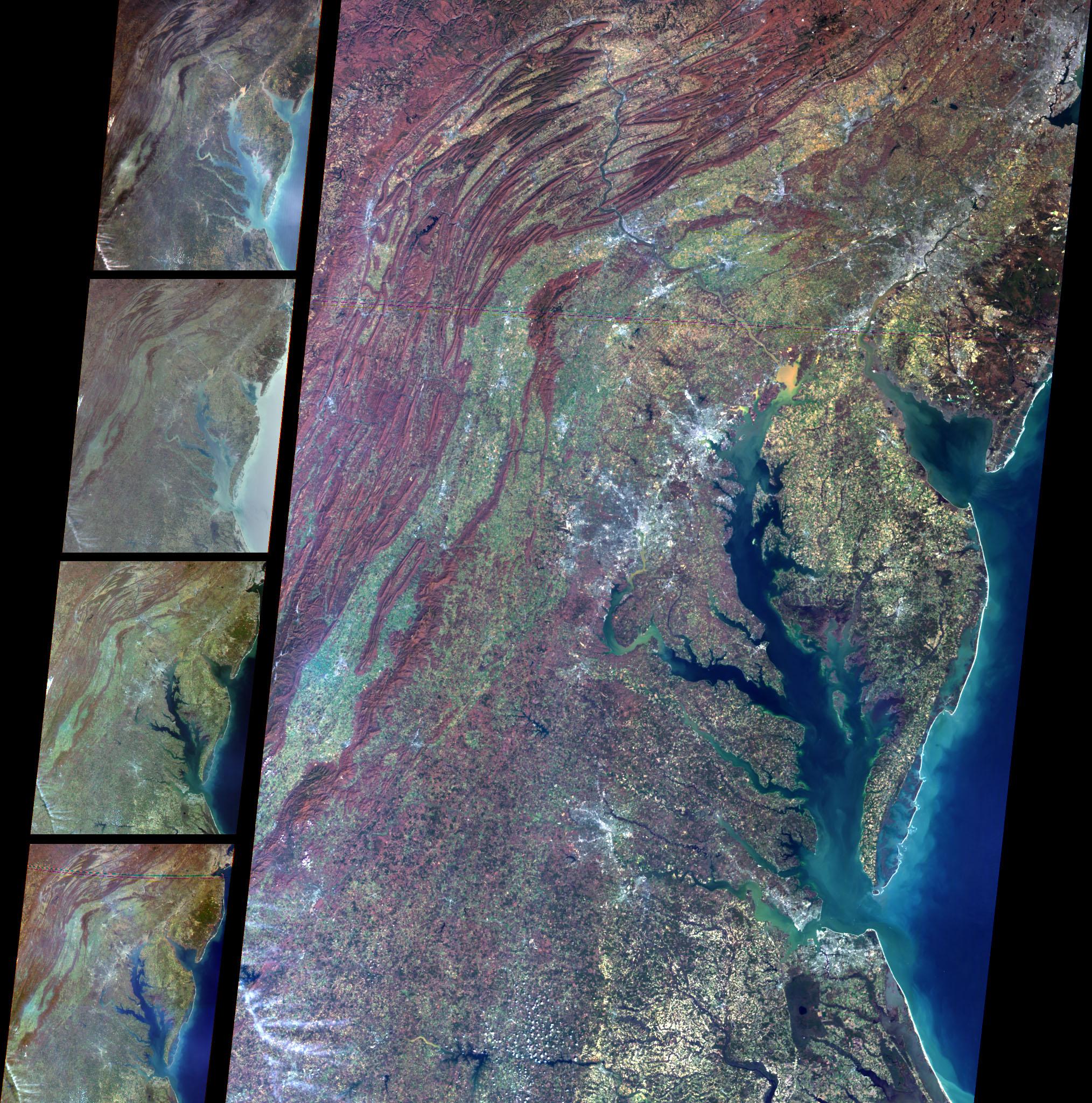 Vista multiangular del Mid-Atlantic, Estados Unidos