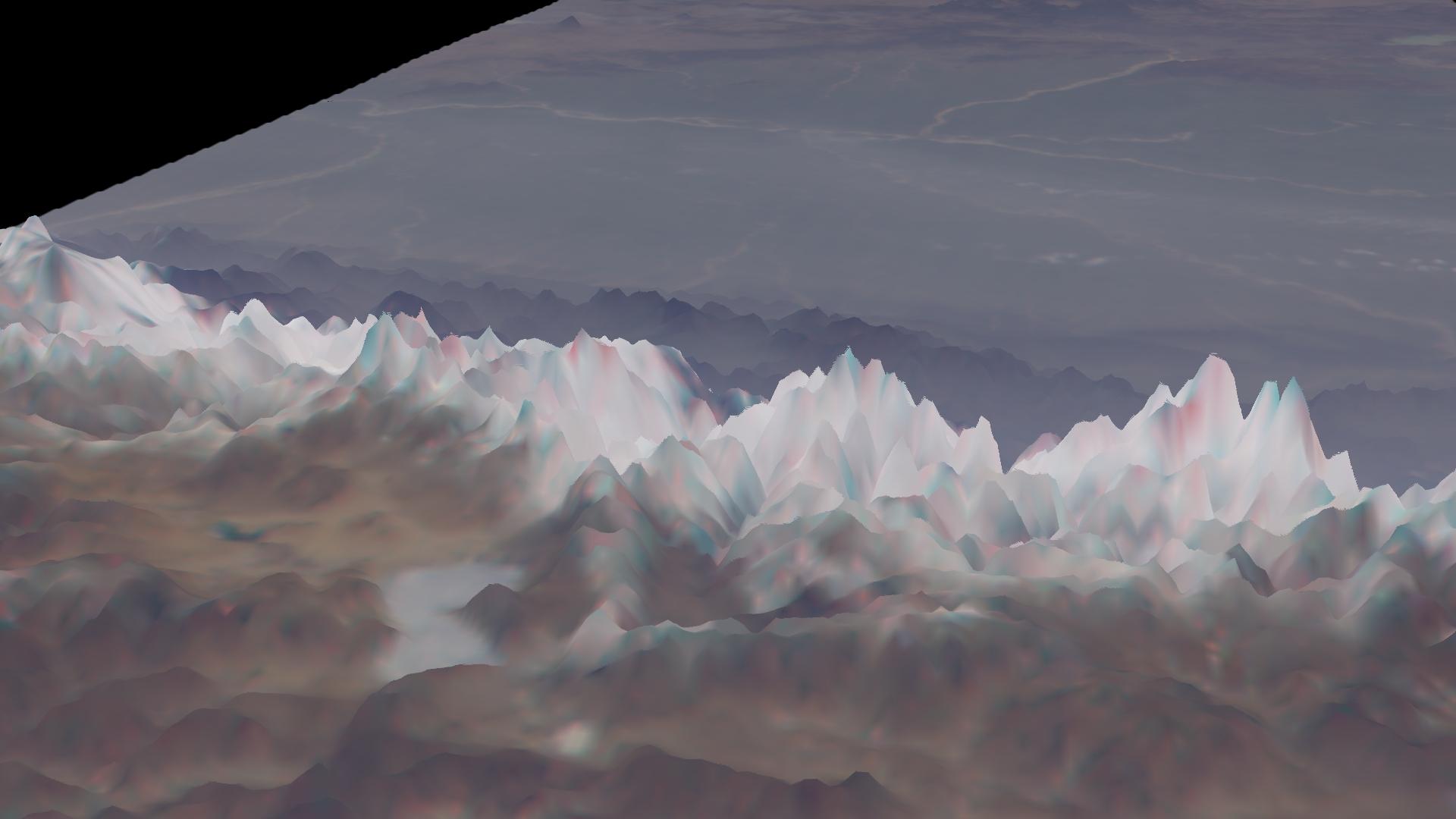 Vista oblicua de la cordillera del Himalaya  de MISR