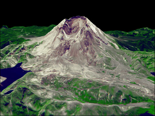 Vuelo encima del Monte Saint Helens