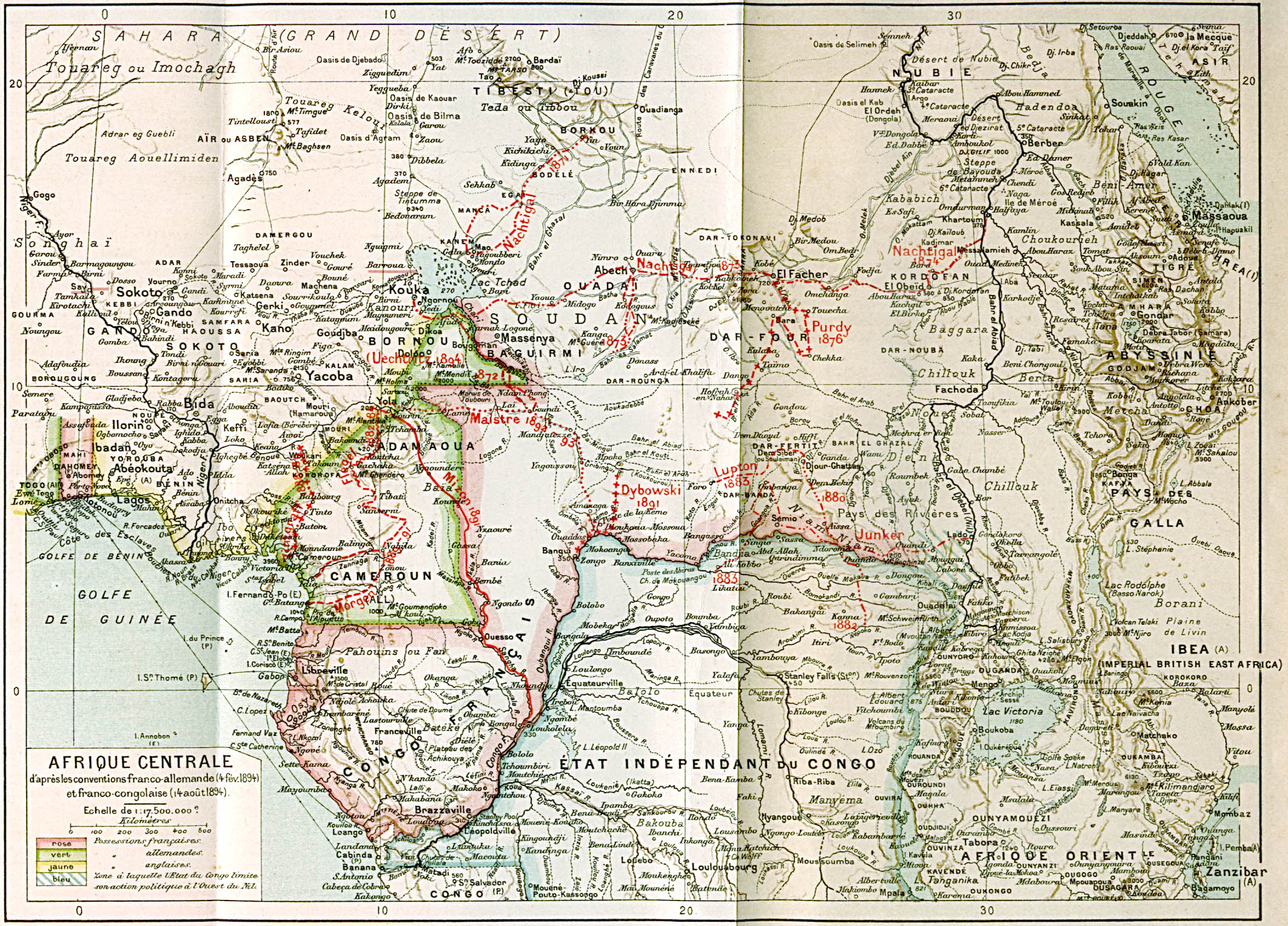 Central Africa Map 1895