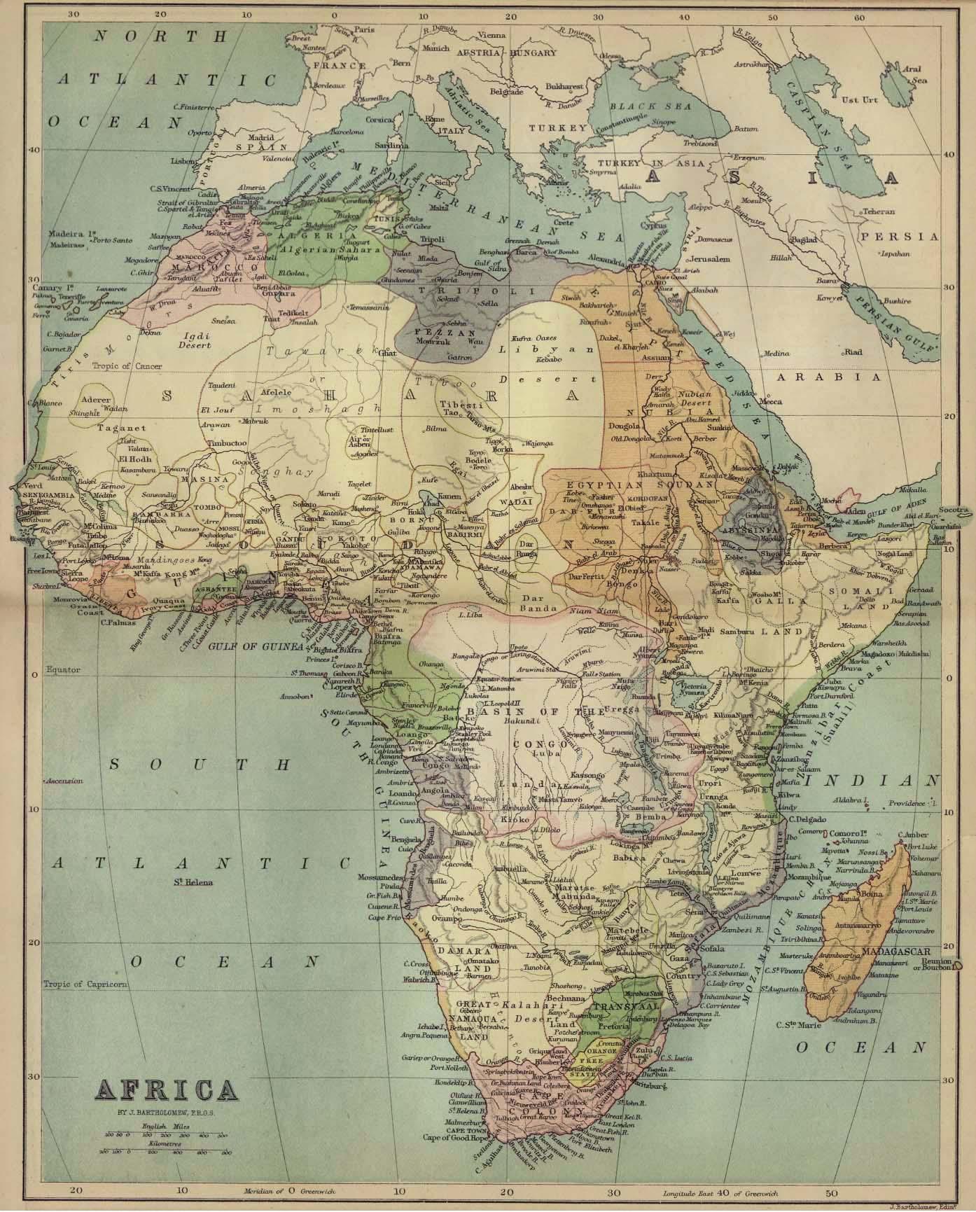 Africa Map 1885