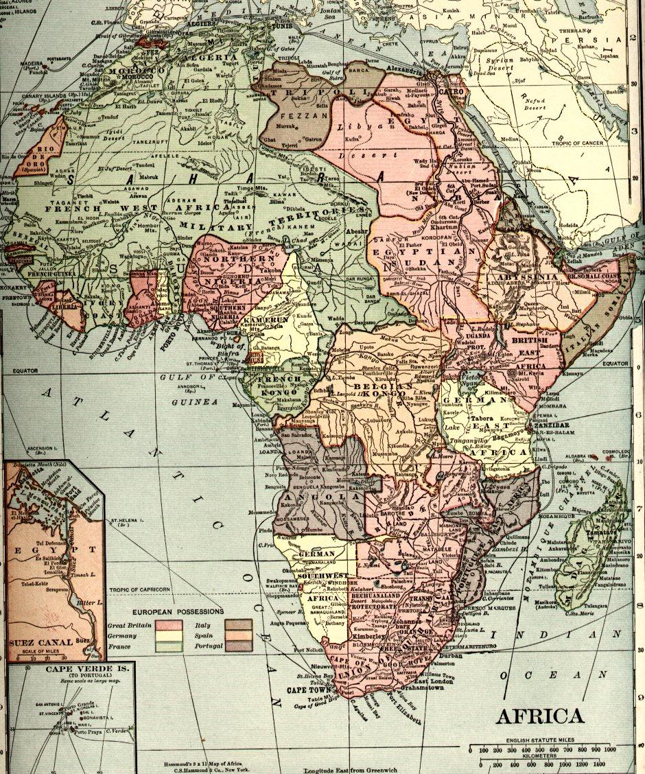 Africa in 1910