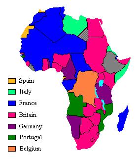 África en la era colonial en 1913