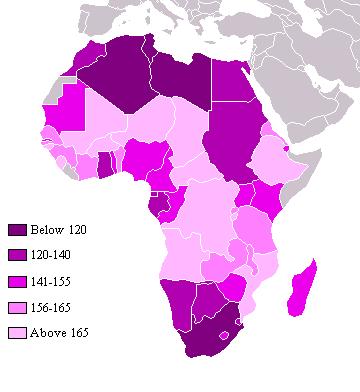 Índice de Desarrollo Humano (IDH) de los países africanos 2004