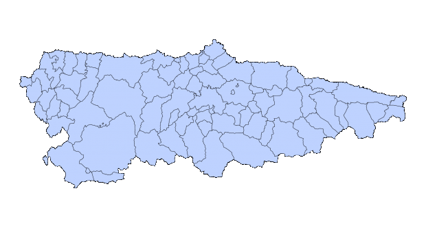 Municipios de Asturias 2003