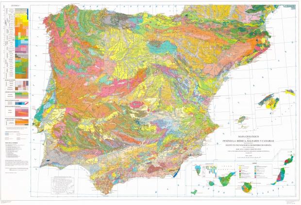 Mapa geológico de España 1994