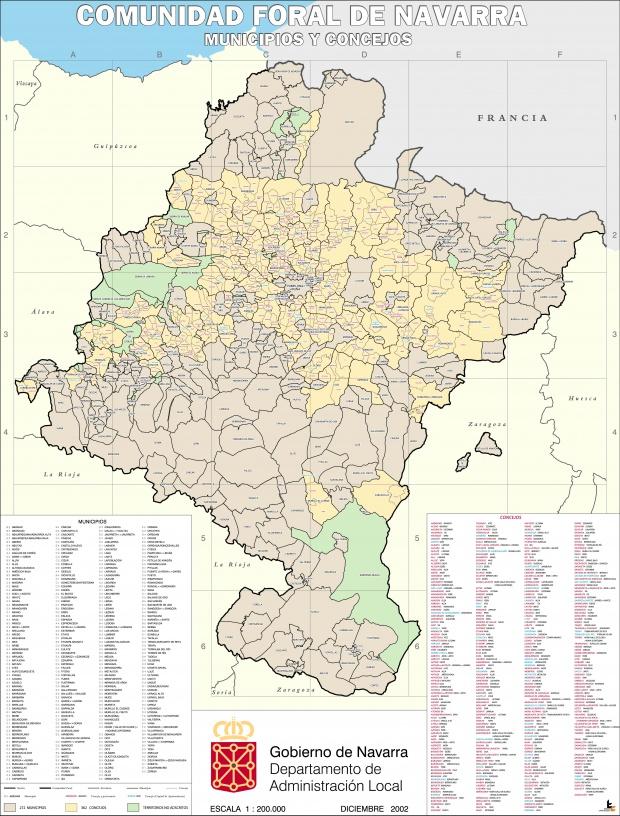 Municipios y Concejos de Navarra 2002
