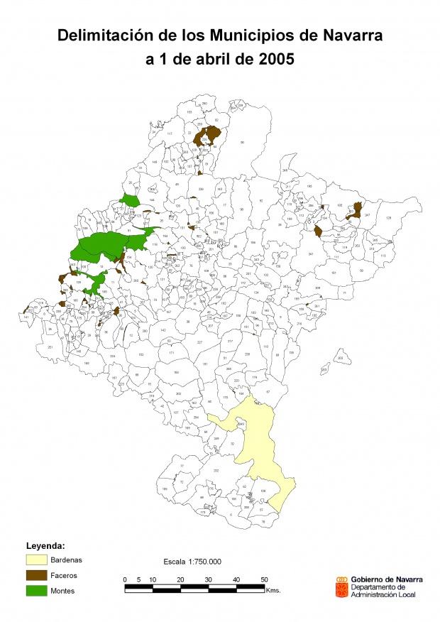 Códigos de los Municipios de Navarra 2005
