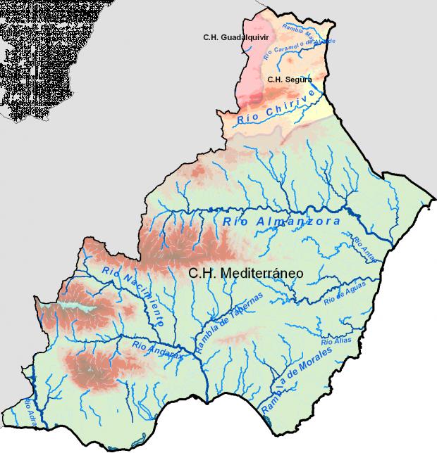 Hidrografía de la provincia de Almería 2008