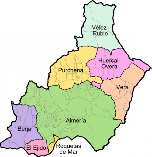 Municipios y partidos judiciales de la Provincia de Almería 2008