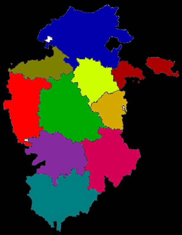Comarcas de la provincia Burgos 2007