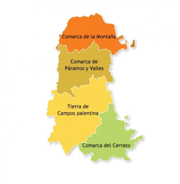 Comarcas administrativas de la Provincia de Palencia