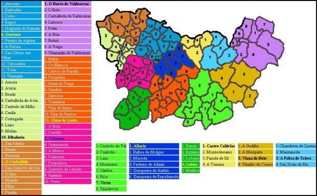 Mapas Politico De Orense