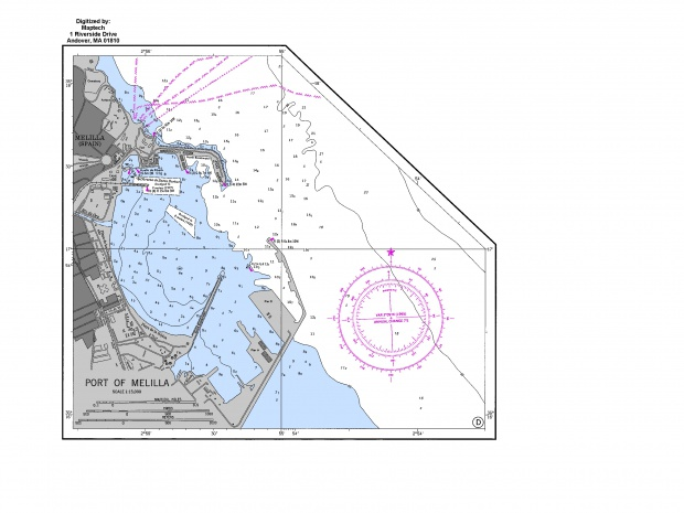 Carta náutica del Puerto de Melilla