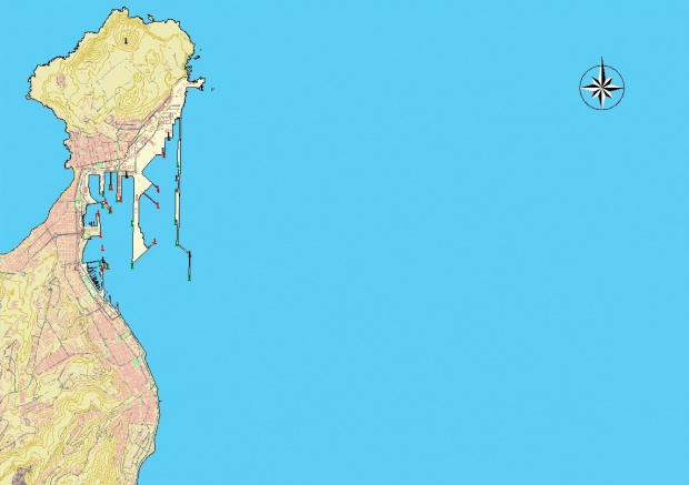 Mapa del puerto de Las Palmas